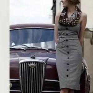 Anthro Floreat Adorned strapless tweed dress 2